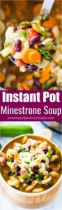 Instant Pot Minestrone Soup is delightfully good, tasty and healthy! Packed with so many hearty veggies and beans you can have a few bowls guilt free.