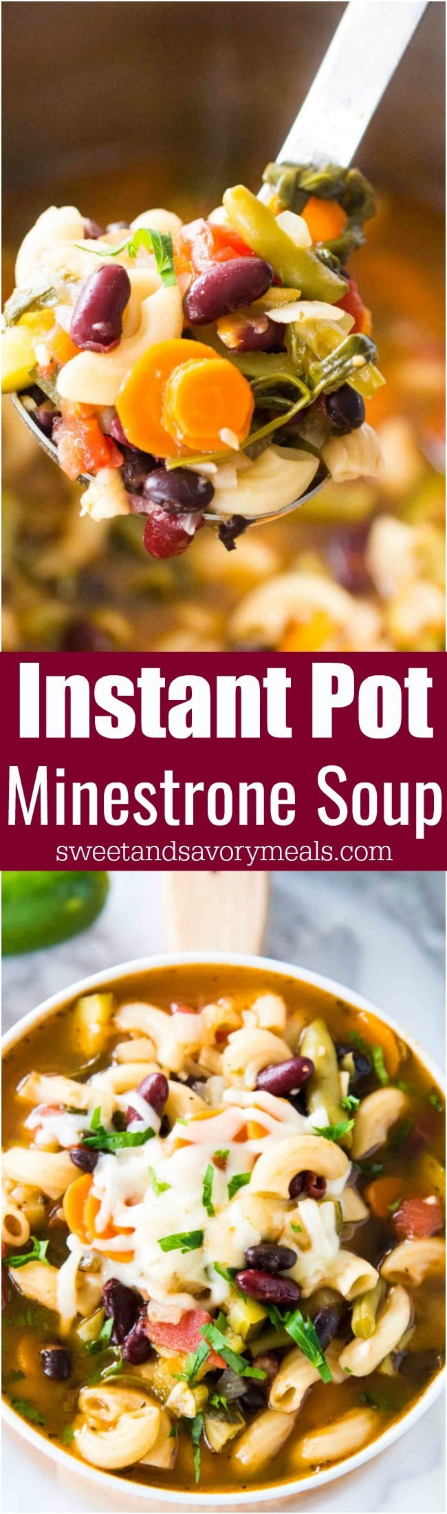 Easy Instant Pot Minestrone Soup is delightfully good, tasty and healthy! Packed with so many hearty veggies and beans you can have a few bowls guilt free.