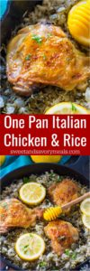 One Pan Italian Chicken and Rice is the perfect weeknight meal that is packed with flavor, budget friendly and also very easy to make.