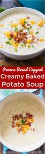 Panera Bread Baked Potato Soup Copycat is the famous chain's comforting soup made easy at home. Serve topped with bacon and crusty bread.
