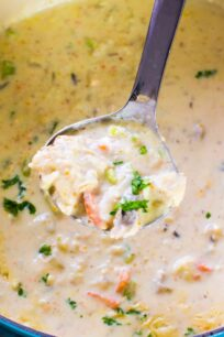 Panera Bread Chicken Wild Rice Soup Copycat is the easy homemade version of the chain's comforting, hearty and creamy soup.