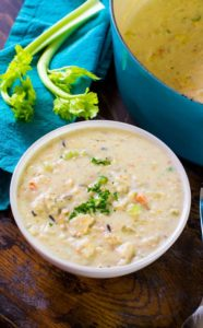 Panera Bread Chicken Wild Rice Soup Copycat is the best homemade version of the chain's comforting, hearty and creamy soup.