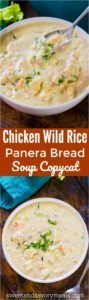 Best Panera Bread Chicken Wild Rice Soup Copycat is the easy homemade version of the chain's comforting, hearty and creamy soup.