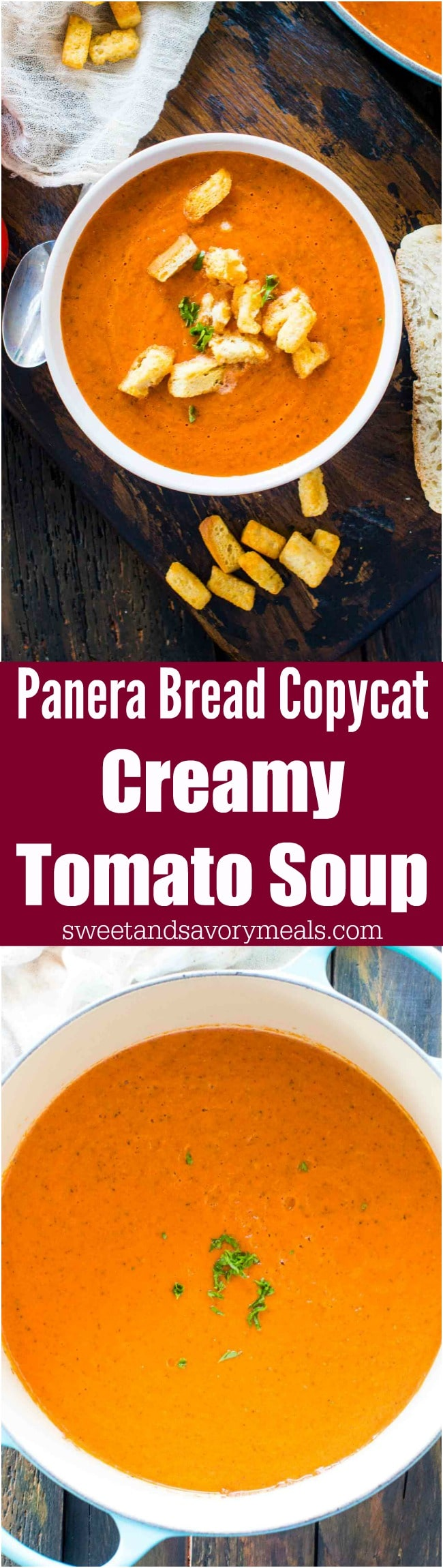 Panera Bread Creamy Tomato Soup Copycat is the chain's classic, famous, creamy soup that will warm your soul and make your taste buds happy.