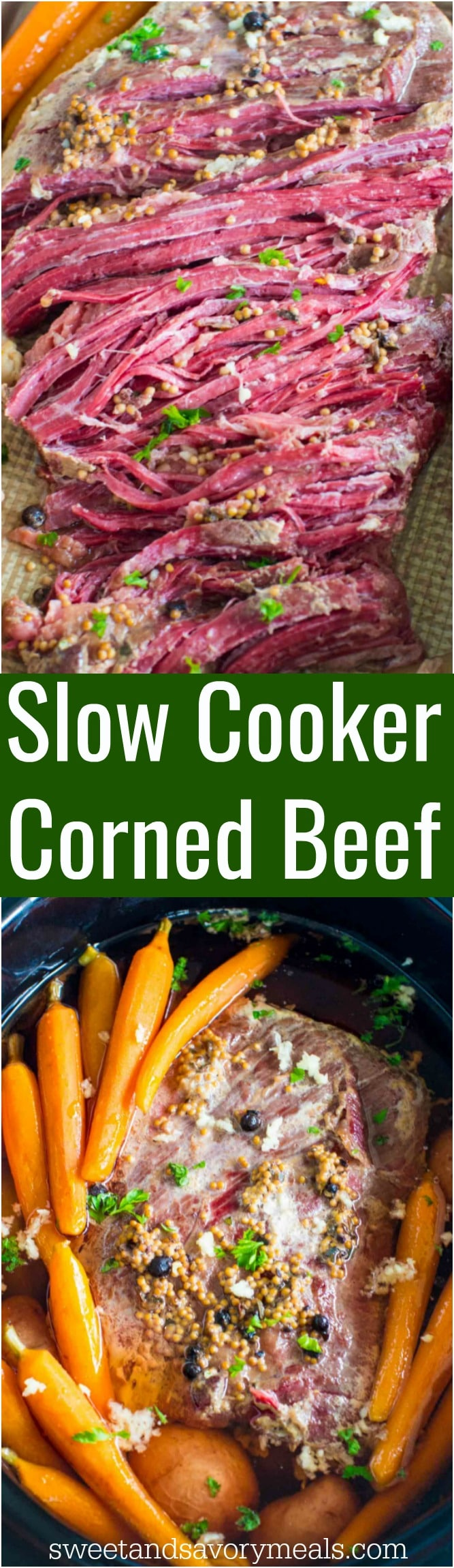 Slow Cooker Corned Beef is the easiest recipes ever. All you have to do is add all the ingredients to the slow cooker and let it work its magic.