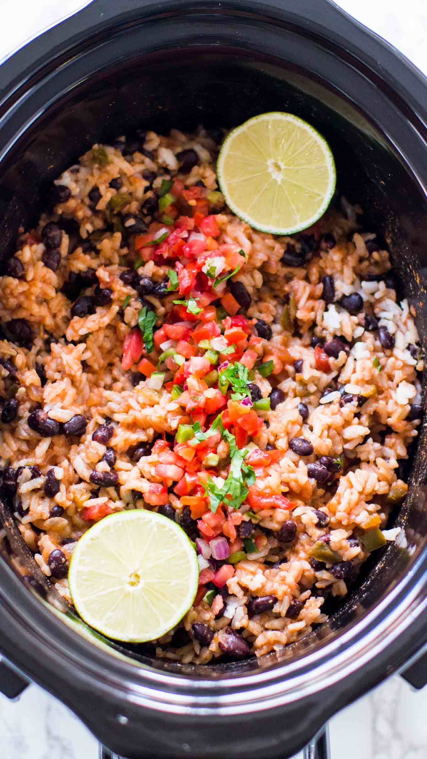 Slow Cooker Rice and Beans