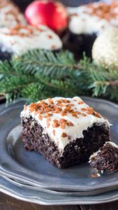 Amazing Gingerbread recipe perfect for the holidays. A very easy to make, fluffy, sweet and spiced cake, topped with delicious cream cheese frosting.