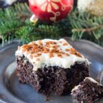 Gingerbread recipe perfect for the holidays. A very easy to make, fluffy, sweet and spiced cake, topped with delicious cream cheese frosting.