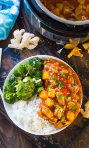 Best Instant Pot Sweet and Sour Chicken is made with sweet pineapple and bell pepper and it tastes a hundred times better than takeout!