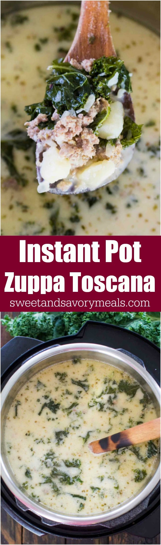 Instant Pot Zuppa Toscana is the Olive Garden Copycat easily made in the Instant Pot in just 40 minutes with budget friendly ingredients.