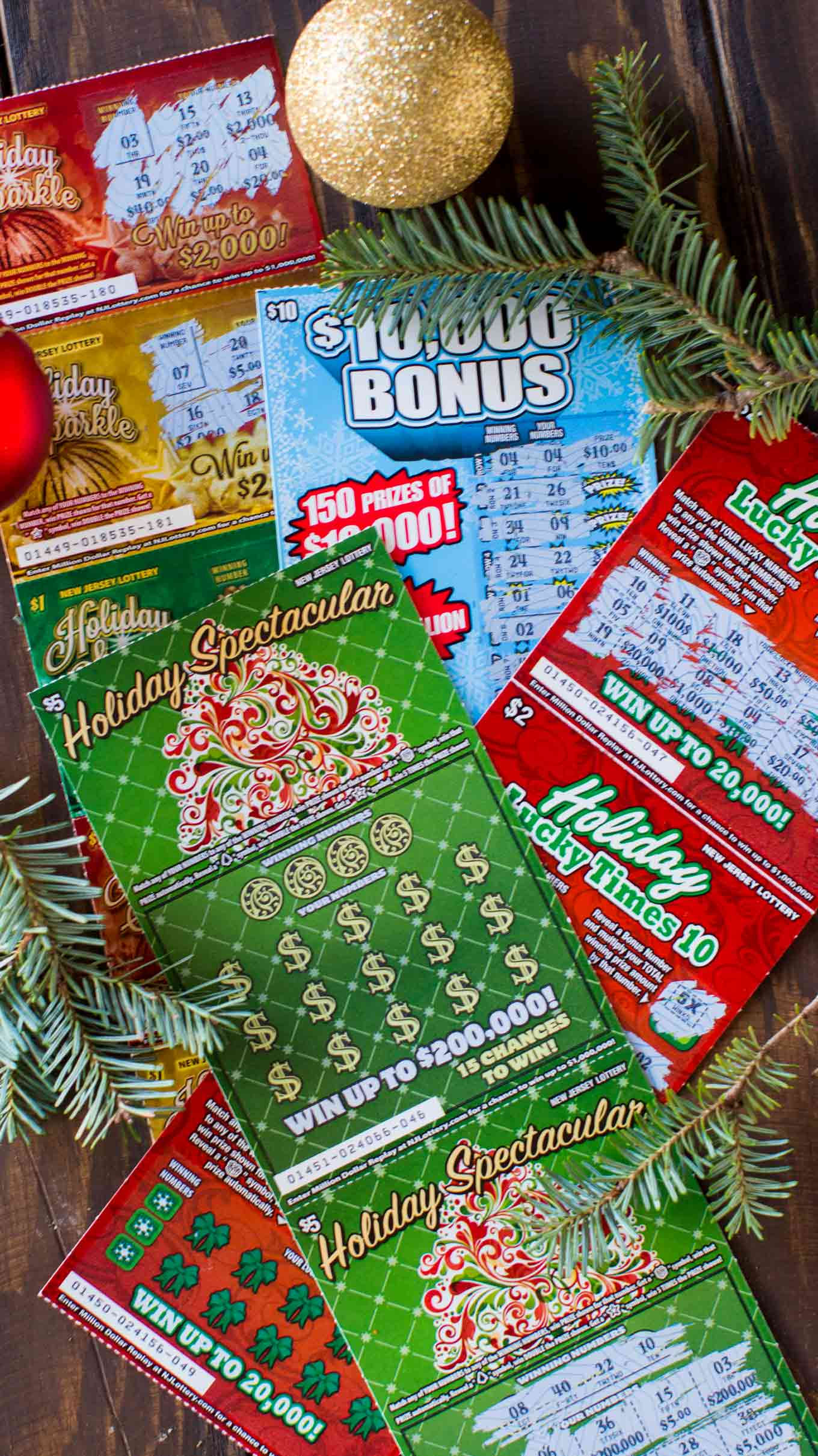 four Holiday themed Instant Games available for the Holiday season. With NJ Lottery tickets!