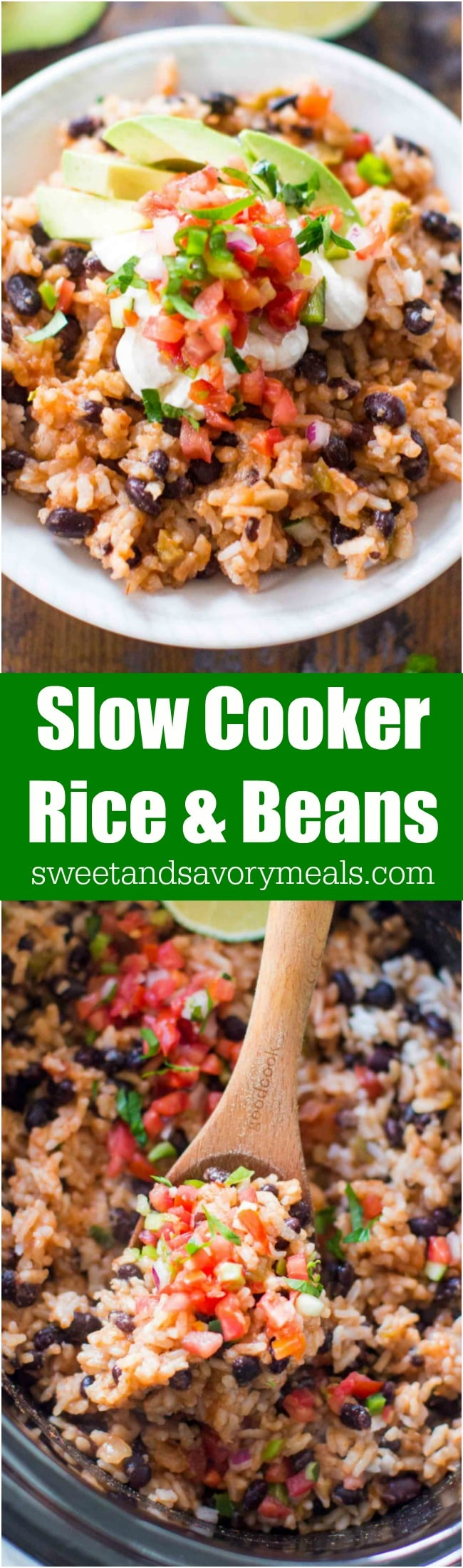 Slow cooker rice and beans photo.