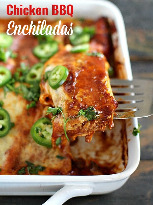 BBQ Chicken Enchiladas