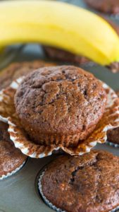Best Chocolate Banana Muffins are the best way to use over ripe bananas. The muffins are very easy to make, soft, chocolaty and full of flavor.