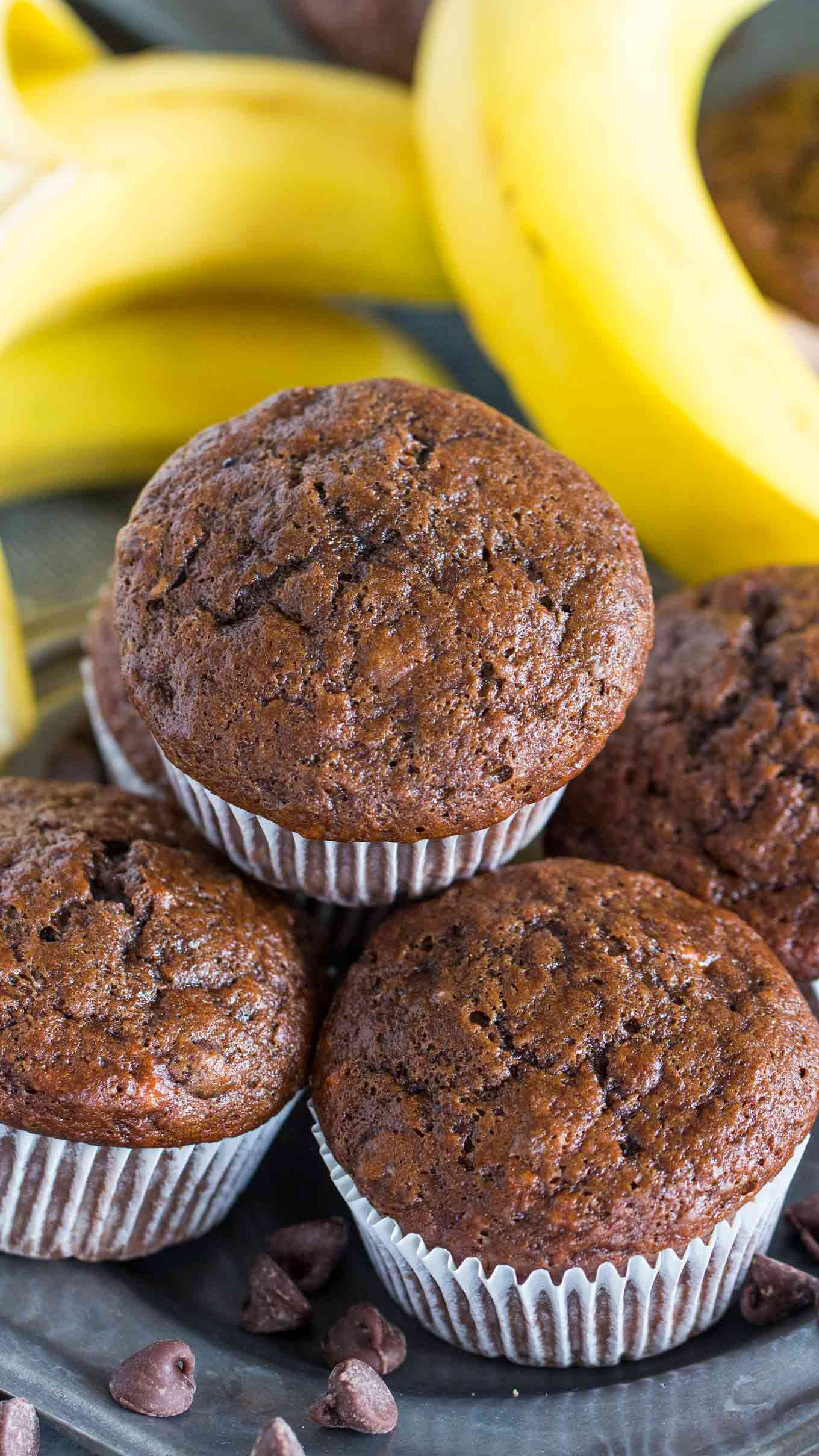 Best Ripe Banana Recipes Chocolate Banana Muffins