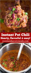 Instant Pot Chili is the best and one of the easiest meals you can make in your Instant Pot. Hearty and loaded with flavor with the perfect texture!