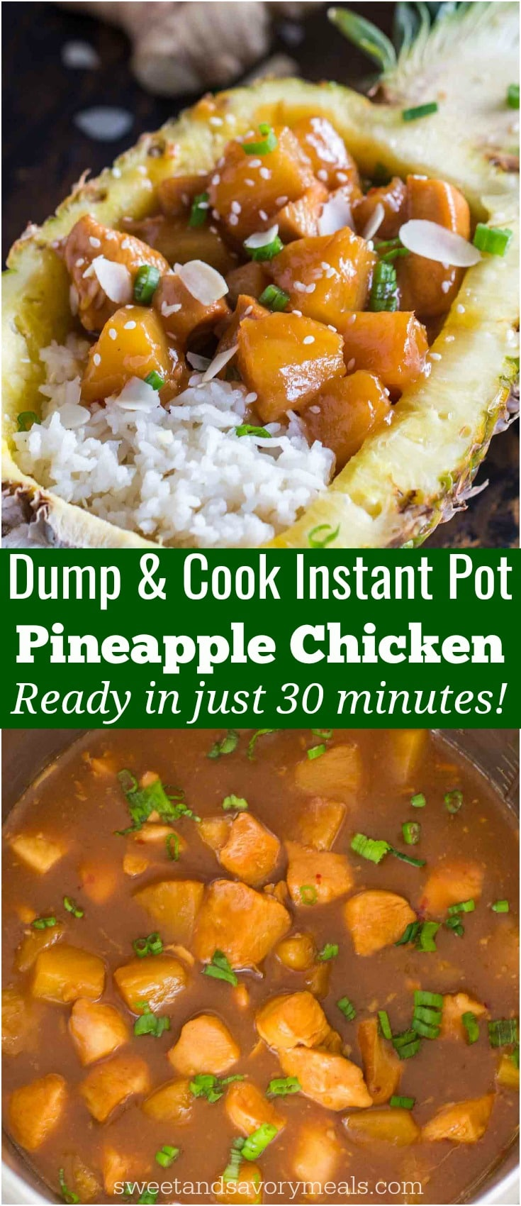 Pressure cooker pineapple chicken photo.