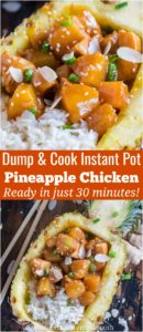 Instant Pot Pineapple Chicken made in just 30 minutes, with minimum prep work! All you have to do is dump and cook all the ingredients!