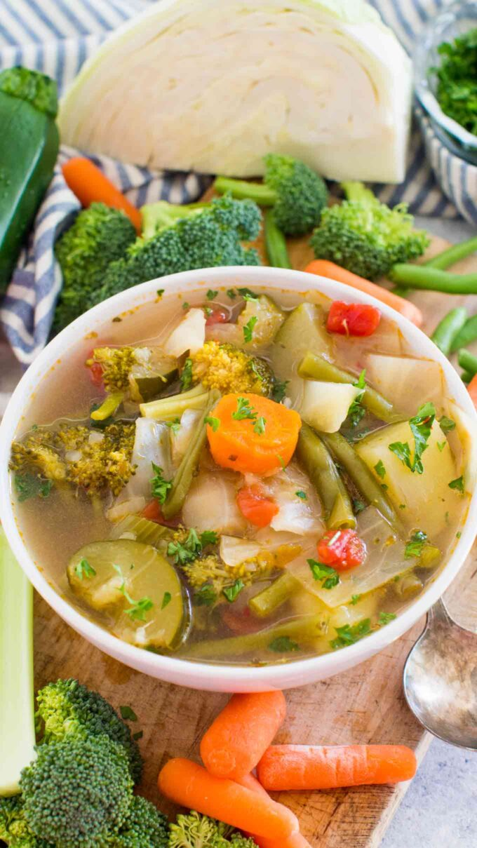 cabbage soup with veggies