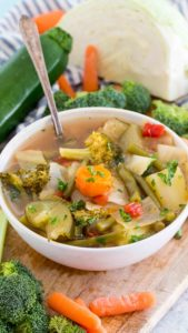 Vegan Instant Pot Weight Loss Soup is a very easy to make veggie soup that packs lots of nutrients and fiber to keep you full and boost your energy.