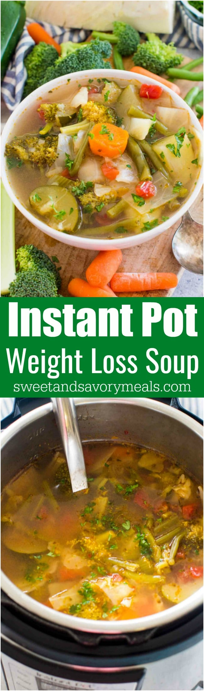 Skinny Instant Pot Weight Loss Soup is a very easy to make veggie soup that packs lots of nutrients and fiber to keep you full and boost your energy.