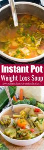 Best Instant Pot Weight Loss Soup is a very easy to make veggie soup that packs lots of nutrients and fiber to keep you full and boost your energy.