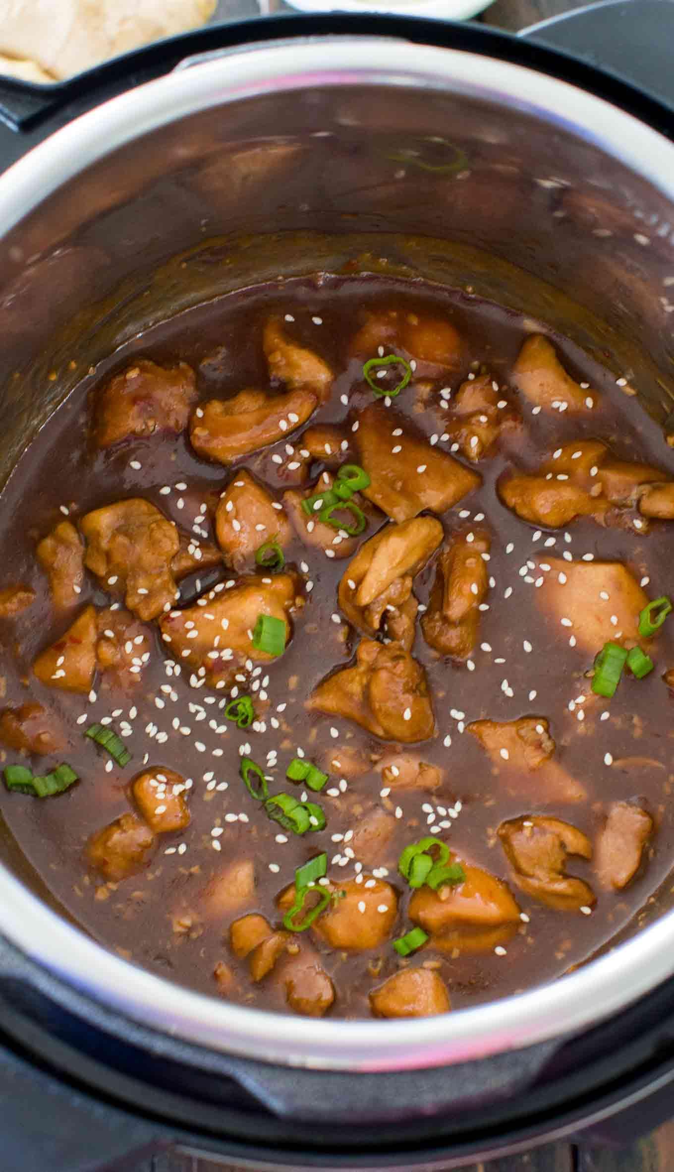 Instant Pot Garlic Sesame Chicken