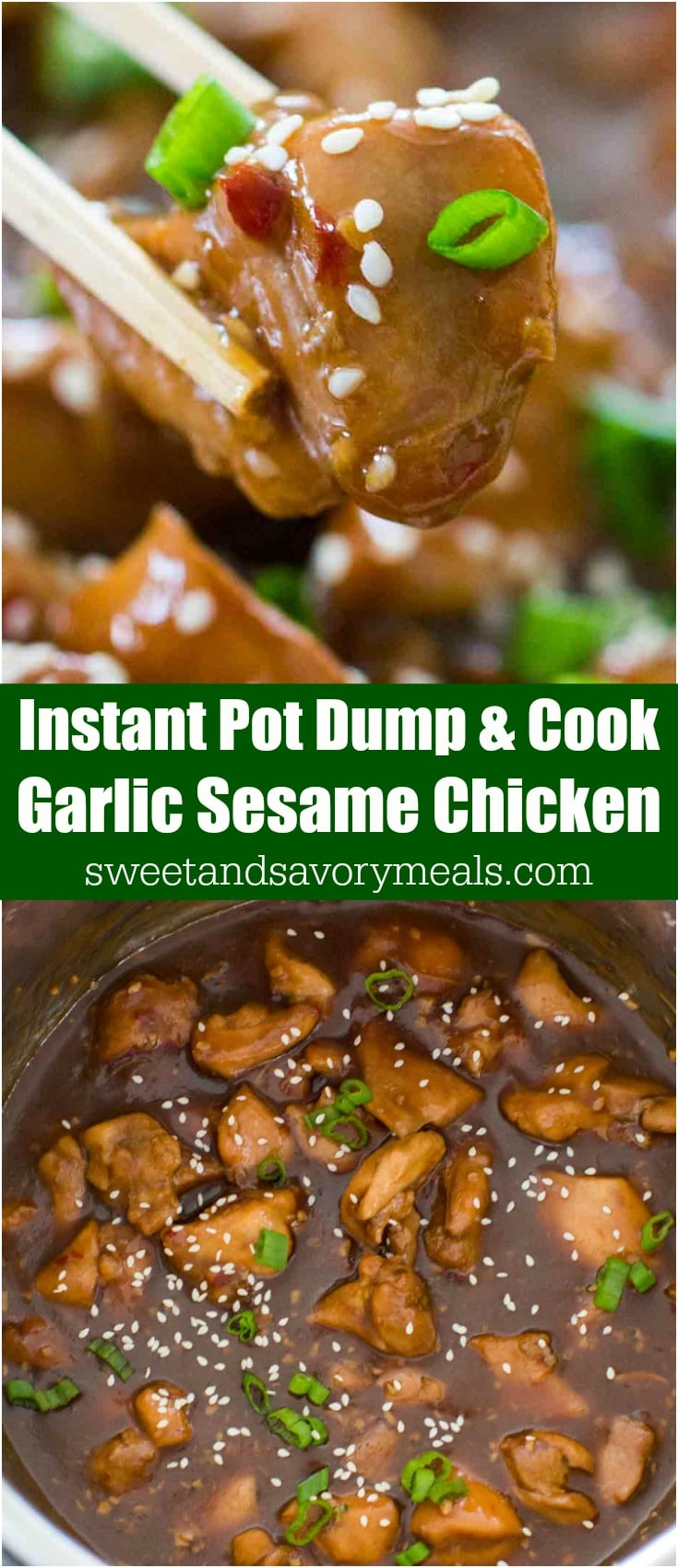 Instant Pot Garlic Sesame Chicken is one of the easiest dump and cook meals, that is very tasty and flavorful and ready in just 30 minutes.