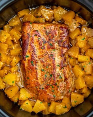 Slow Cooker Pineapple Pork Loin