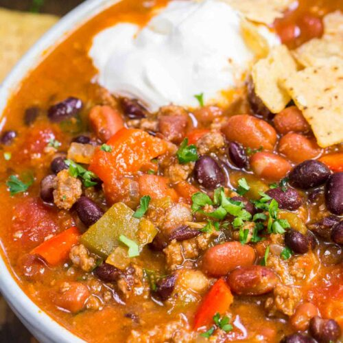 Best Taco Soup Recipe One Pot Video Sweet And Savory Meals