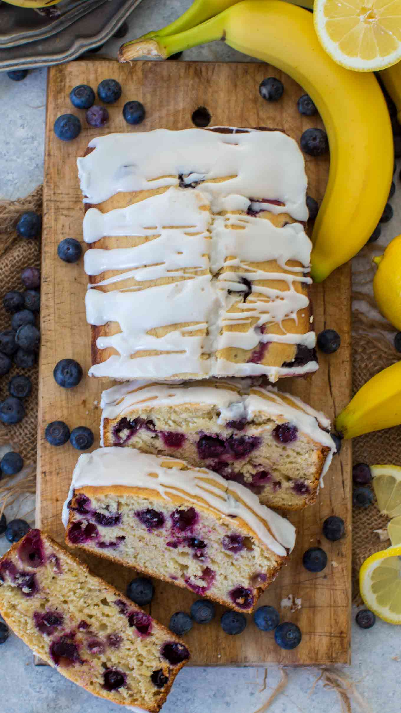 Quick and Easy Lemon Desserts - Blueberry Banana Bread