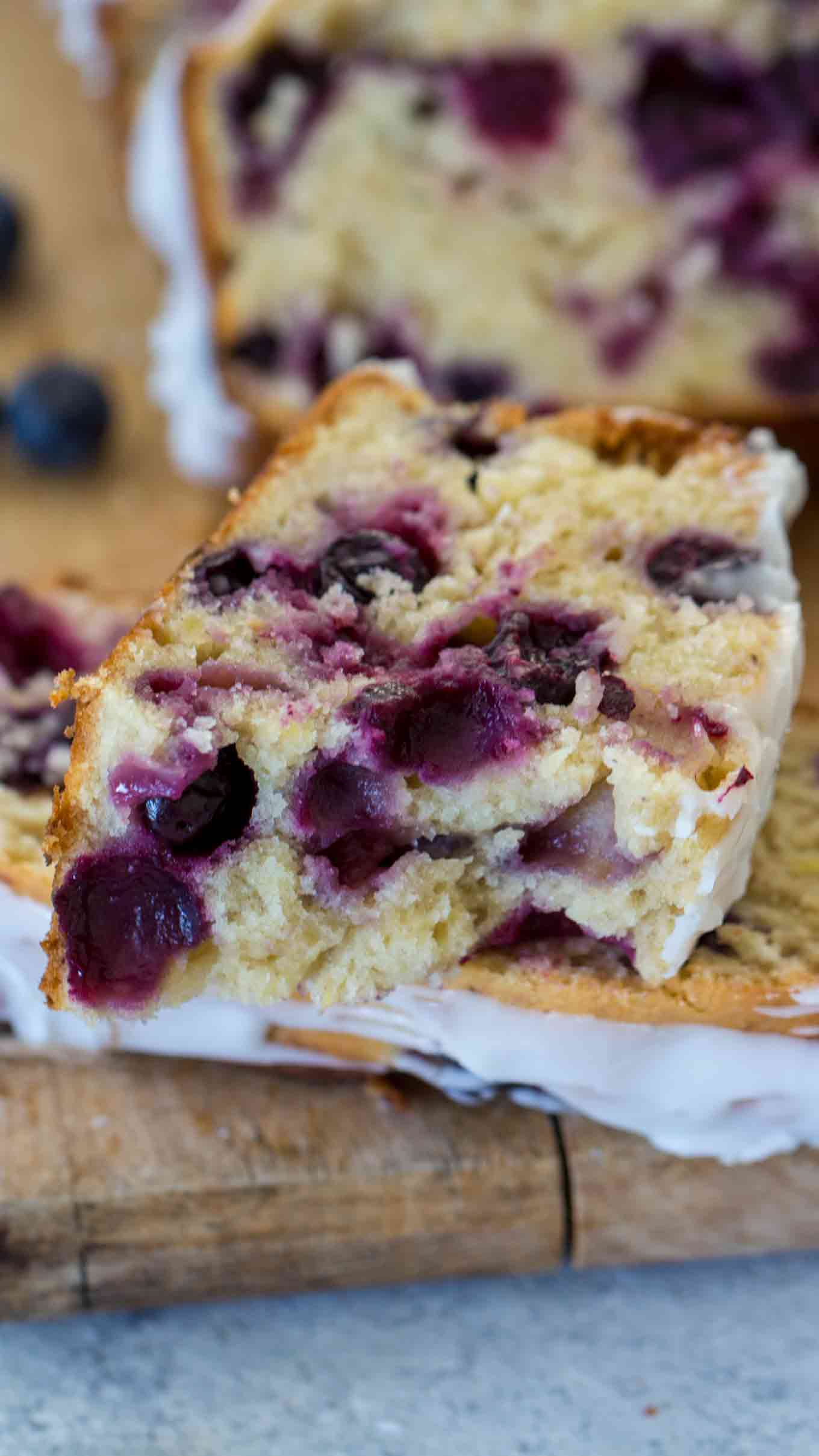 Blueberry Banana Bread Slice