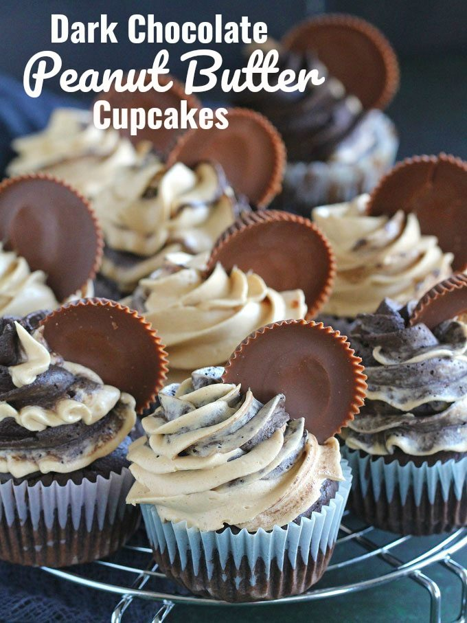 Dark Chocolate Peanut Butter Cupcakes Sweet And Savory Meals