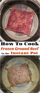 How To Cook Frozen Ground Beef In The Instant Pot Pressure Cooker in just under one hour. Use the beef to make tacos, stuffed peppers or serve with pasta.