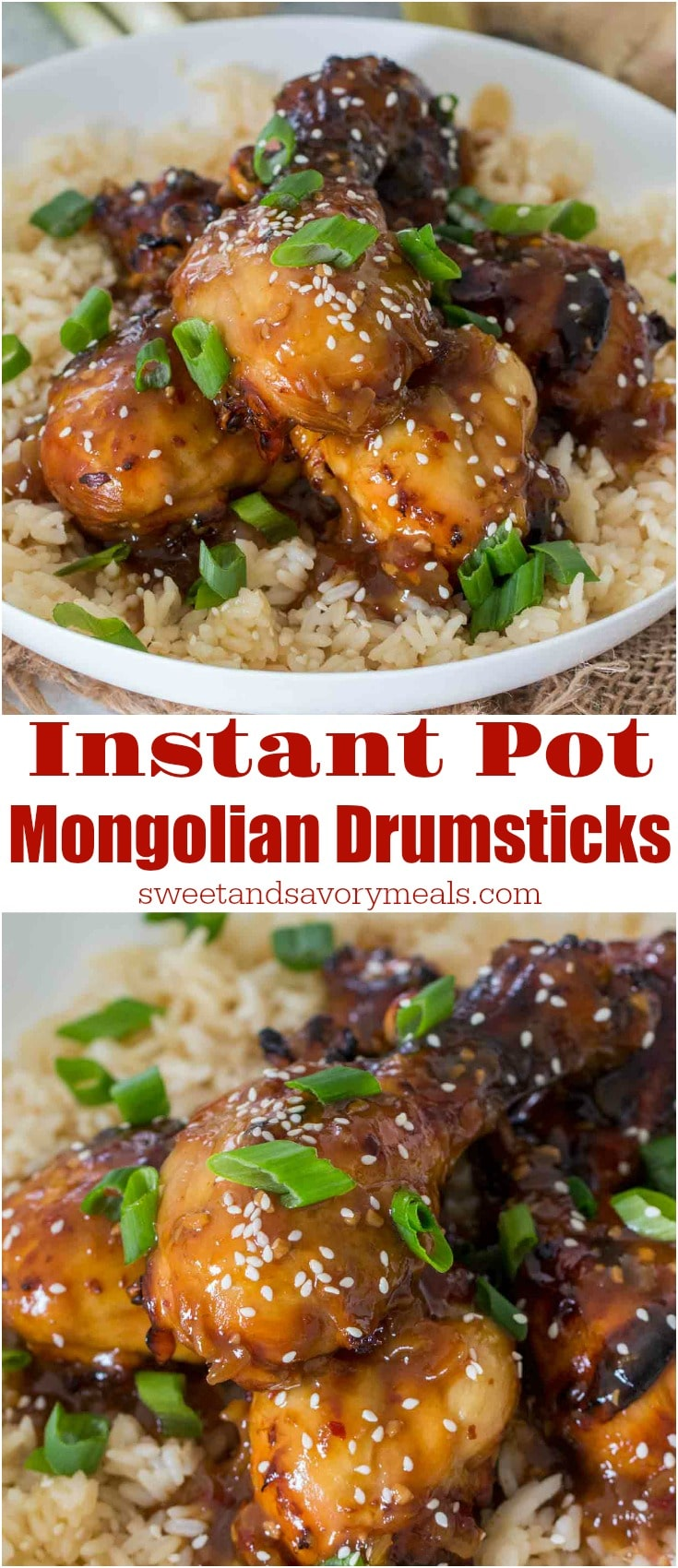 Instant Pot Mongolian Drumsticks are the perfect combination of sweet and savory. The chicken drumsticks are incredibly tender on the inside and crispy on the outside.