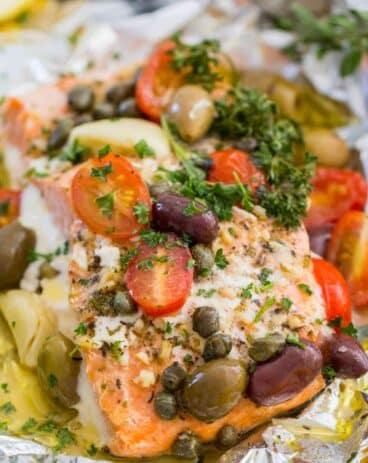 Mediterranean Salmon Foil Packets