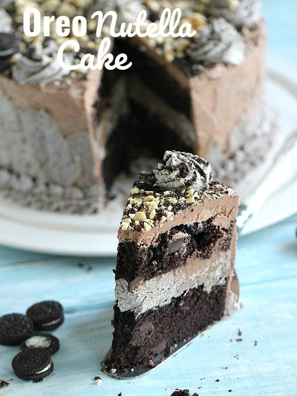 Oreo Nutella Cake Eggless Chocolate Cake Sweet And Savory Meals