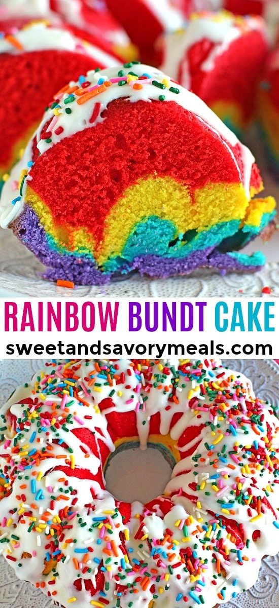 Easy Rainbow Bundt Cake