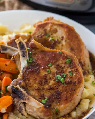 Instant Pot Apple Cider Pork Chops