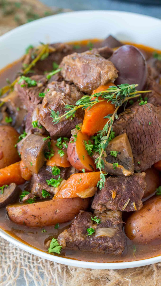 Pressure Cooker Beef Bourguignon Recipe