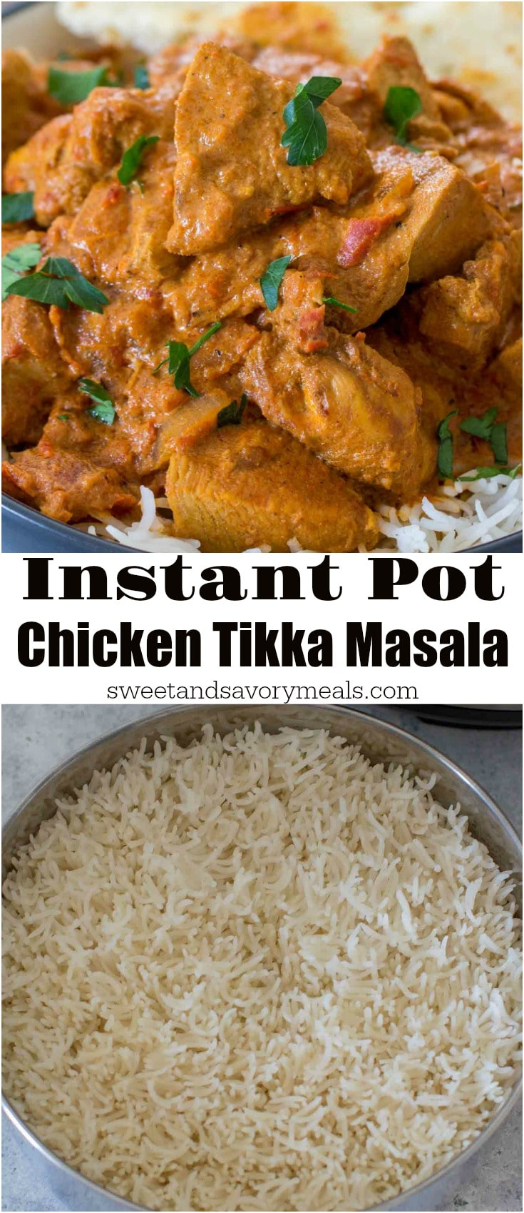 Instant Pot Chicken Tikka Masala with Basmati Rice