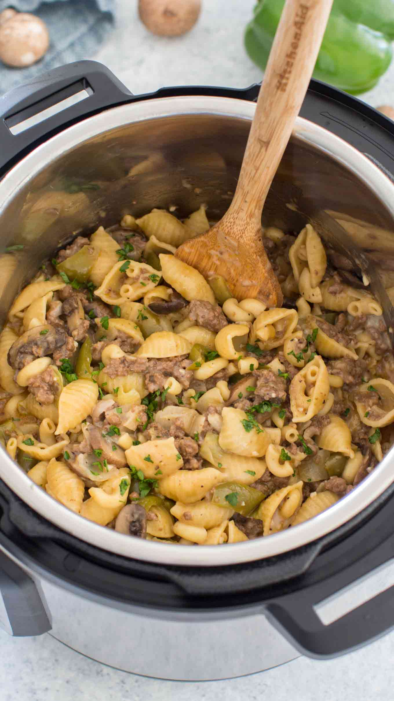 Instant Pot Philly Cheesesteak Pasta Recipe