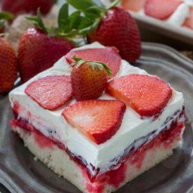 Best Strawberry Poke Cake
