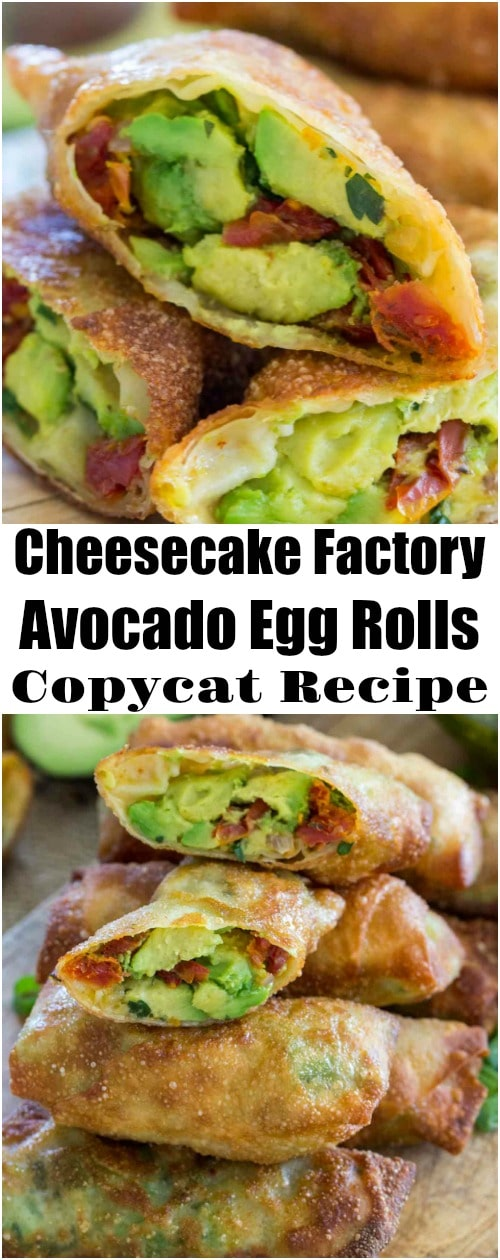 Cheesecake Factory Avocado Egg Rolls Copycat Recipe so you can enjoy these crunchy, delicious, creamy and tasty egg rolls at home any time you want, without the restaurant price tag.