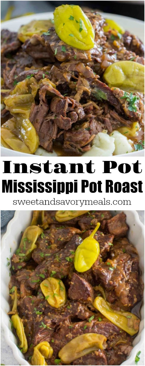 Instant Pot Mississippi Pot Roast is one of the most amazing pot roasts you can make in the instant pot. Buttery, juicy, tender and full of pepperoncinis, ranch and au jus flavors.