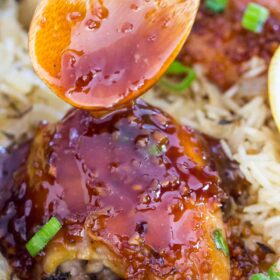 One Pan Honey Garlic Chicken and Rice