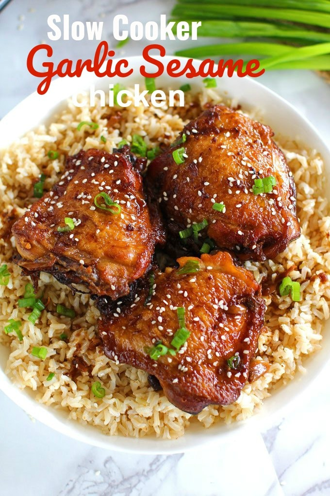 Slow Cooker Garlic Sesame Chicken Recipe