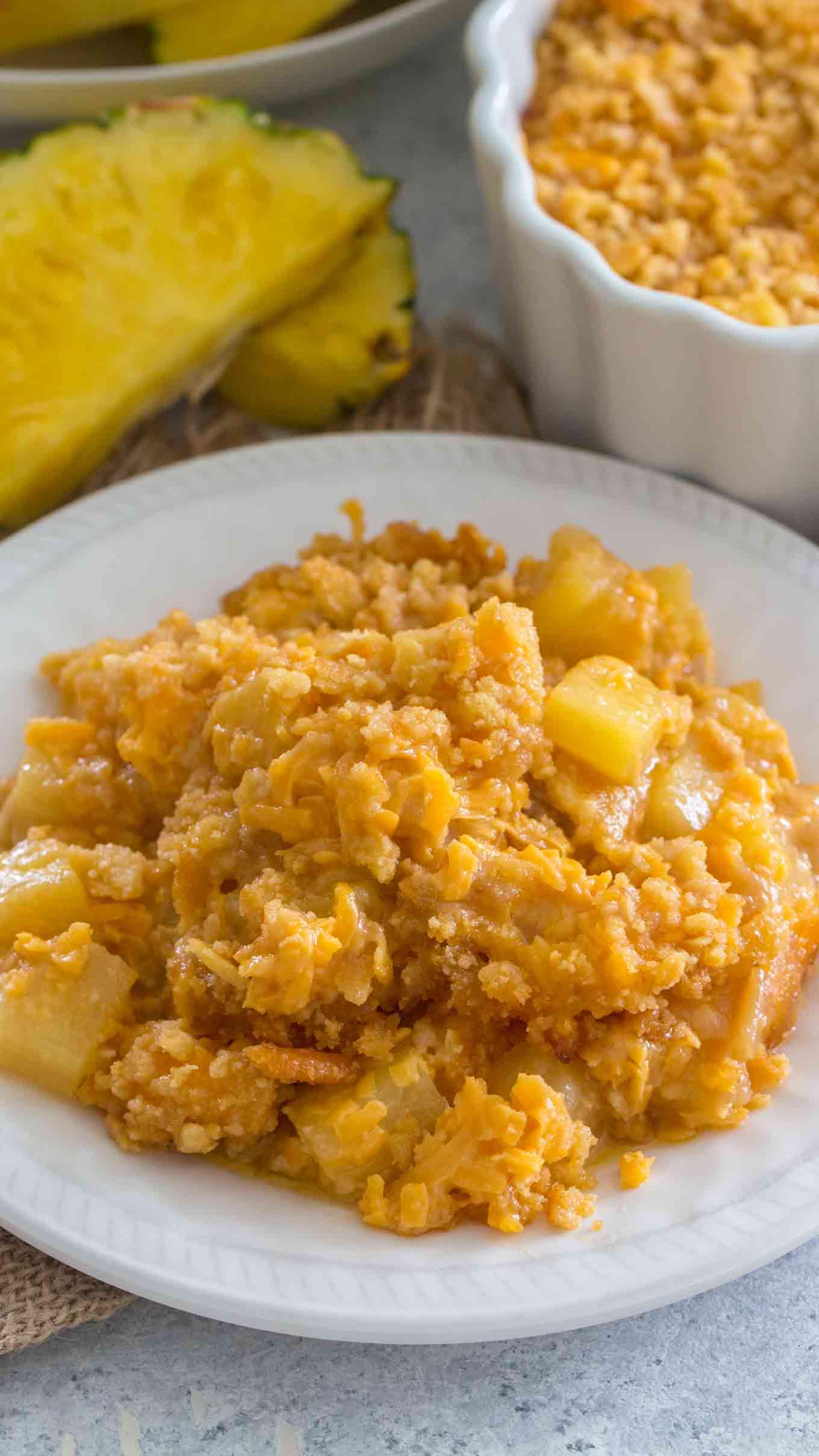 Pineapple Casserole Plate