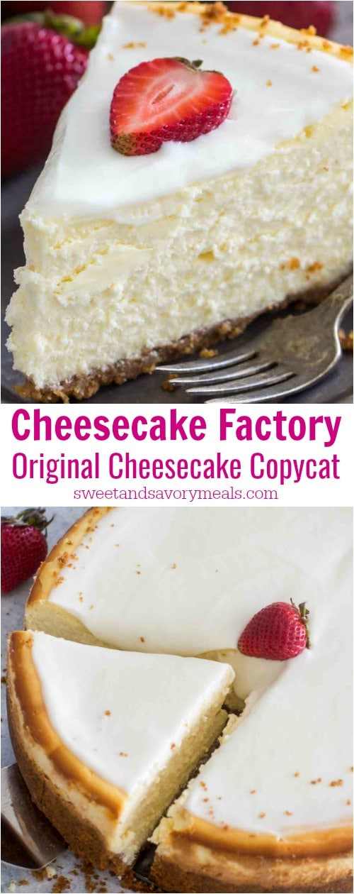 Cheesecake Factory Copycat Cheesecake Recipe Video Sweet And Savory Meals