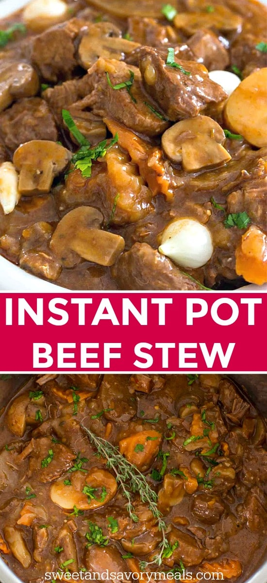 Instant pot beef stew picture for pinterest.